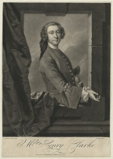 Henry Clarke, by John Faber Jr, after  Thomas Hudson - NPG D33288