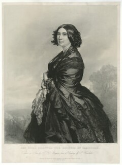 Princess Augusta Wilhelmina Louisa, Duchess of Cambridge, by Thomas Herbert Maguire, printed by  M & N Hanhart, published by  John Mitchell, after  Franz Xaver Winterhalter - NPG D33289