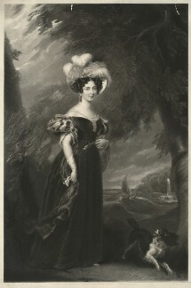 Princess Victoria, Duchess of Kent and Strathearn, by James Bromley, published by  Paul and Dominic Colnaghi & Co, after  Sir George Hayter, published 1835 - NPG D33293 - © National Portrait Gallery, London