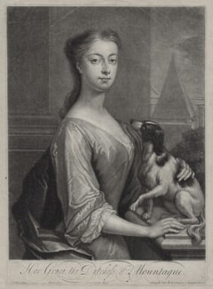 Mary Montagu (née Churchill), Duchess of Montagu, by John Simon, published by  Edward Cooper, after  Charles D'Agar, circa 1700-1725 - NPG D27381 - © National Portrait Gallery, London