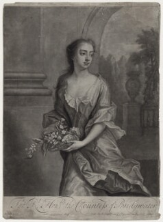 Elizabeth Egerton (née Churchill), Countess of Bridgewater, by William Faithorne Jr, published by  Edward Cooper, after  Michael Dahl - NPG D27382