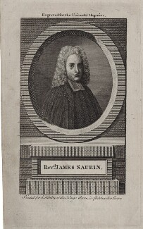 Jacques Saurin, after Unknown artist, published by  John Hinton - NPG D27403