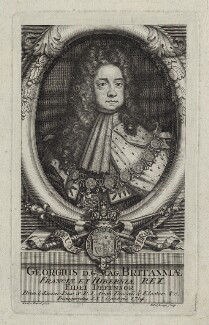 King George I, by Henry Hulsbergh (Hulsberg), after  Sir Godfrey Kneller, Bt - NPG D27404