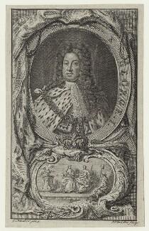 King George I, by John Sebastian Miller (formerly Johann Sebastian Müller), after  Sir Godfrey Kneller, Bt - NPG D27405