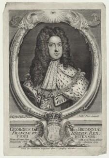 King George I, by Nathaniel Parr, after  Sir Godfrey Kneller, Bt - NPG D27407