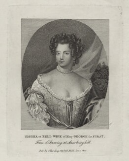 Sophia Dorothea of Celle, by Andrew Birrell, after  Silvester Harding - NPG D27413