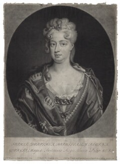 Sophia Dorothea, Queen of Prussia, by and published by John Smith, after  Friedrich Wilhelm Weidemann - NPG D27414
