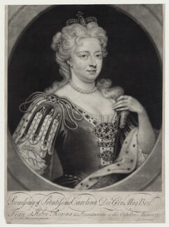 Caroline Wilhelmina of Brandenburg-Ansbach, by John Simon, after  Sir Godfrey Kneller, Bt - NPG D27415