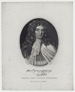 Charles Townshend, 2nd Viscount Townshend, by Edward Harding, after  William Nelson Gardiner - NPG D27420