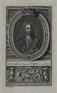 Thomas Pelham-Holles, 1st Duke of Newcastle-under-Lyne, by Proud, after  Unknown artist - NPG D27424