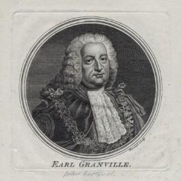 John Carteret, 2nd Earl Granville, by Simon François Ravenet, after  Dominicus van der Smissen - NPG D27428