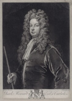 Charles Howard, 3rd Earl of Carlisle, by John Faber Jr, after  Sir Godfrey Kneller, Bt - NPG D27434