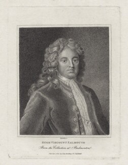 Hugh Boscawen, 1st Viscount Falmouth, by and published by Edward Harding - NPG D27437