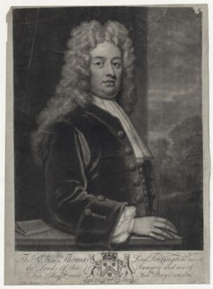 Thomas Newport, Baron Torrington, by John Smith, after  Sir Godfrey Kneller, Bt - NPG D27441