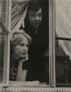 Leslie Caron; Sir Peter Hall, by Lewis Morley - NPG x131805