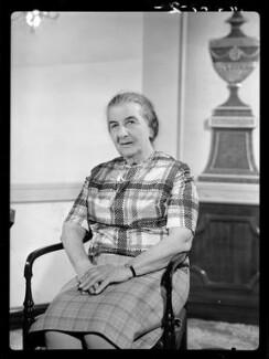 Golda Meir, by Bassano & Vandyk Studios - NPG x174602