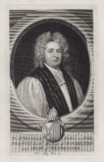 Francis Atterbury, by George Vertue, after  Sir Godfrey Kneller, Bt - NPG D27448