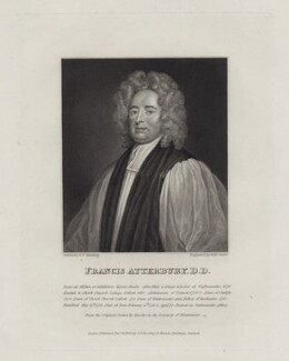 Francis Atterbury, by Robert Grave, after  George Perfect Harding, after  Sir Godfrey Kneller, Bt, published 1822 - NPG D27451 - © National Portrait Gallery, London