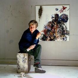 Maggi Hambling, by Eamonn McCabe, 2003 - NPG x131769 - © Eamonn McCabe