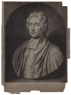 Samuel Clarke, by John Faber Jr, after  Unknown artist - NPG D27467