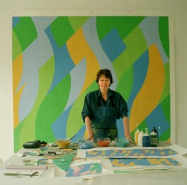 Bridget Riley, by Eamonn McCabe - NPG x131776