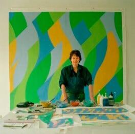 Bridget Riley, by Eamonn McCabe, 2004 - NPG x131776 - © Eamonn McCabe