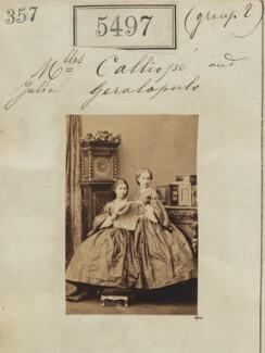 Julia Sevastopulo (née Geralopulo); Calliope Geralopulo, by Camille Silvy - NPG Ax55457