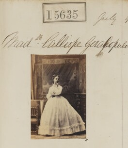 Calliope Geralopulo, by Camille Silvy - NPG Ax63567