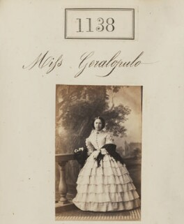 Miss Geralopulo, by Camille Silvy - NPG Ax50616