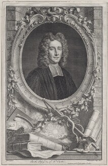 Samuel Clarke, by Jacobus Houbraken, after  Thomas Gibson, published by  John & Paul Knapton - NPG D27471