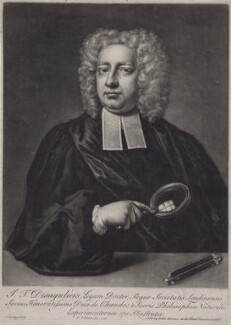 John Theophilus Desaguliers, by Peter Pelham, after  Hans Hysing - NPG D27472