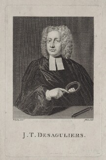 John Theophilus Desaguliers, by James Tookey, after  Hans Hysing - NPG D27474