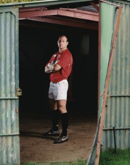 Lawrence Dallaglio, by Henry Browne - NPG x131788
