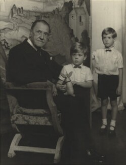 Somerset Maugham; Julian John Somerset Hope, 2nd Baron Glendevon; Jonathan Charles Hope, 3rd Baron Glendevon, by Madame Yevonde - NPG x29067
