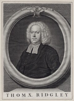 Thomas Ridgley, by John Vandergucht, after  Bartholomew Dandridge - NPG D27498
