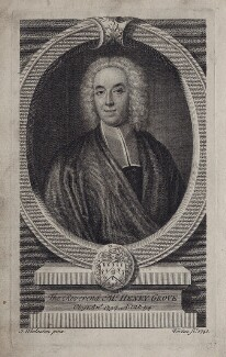 Henry Grove, by George Vertue, after  John Wollaston - NPG D27499
