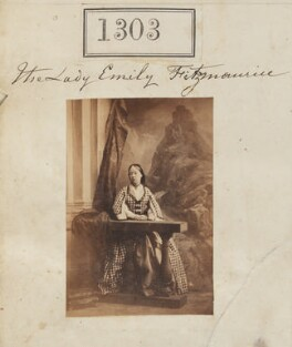 Lady Emily Charlotte Fitzmaurice, by Camille Silvy - NPG Ax50706