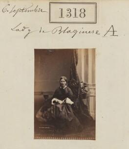Eleanor Amelia (née Jolliffe), Lady de Blaquiere, by Camille Silvy - NPG Ax50720