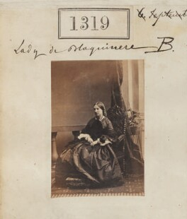 Eleanor Amelia (née Jolliffe), Lady de Blaquiere, by Camille Silvy - NPG Ax50721