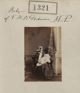 Henry Berkeley Portman, 3rd Viscount Portman with his nurse, possibly Frances Woly, by Camille Silvy - NPG Ax50723
