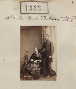 Mary Selina Charlotte (née Fitzwilliam), Viscountess Portman; William Henry Berkeley Portman, 2nd Viscount Portman, by Camille Silvy - NPG Ax50724