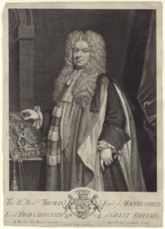Thomas Parker, 1st Earl of Macclesfield, by George Vertue, sold by  Edmund Parker, sold by  Jacob Tonson II, after  Sir Godfrey Kneller, Bt, 1722 - NPG D27515 - © National Portrait Gallery, London