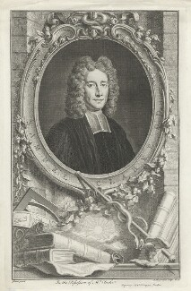 Samuel Clarke, by Jacobus Houbraken, after  Thomas Gibson, published by  John & Paul Knapton - NPG D33308