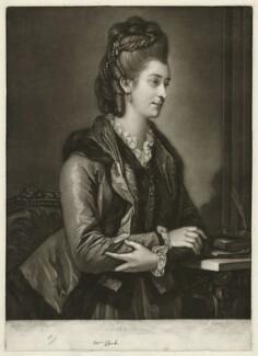 Elizabeth Catherine ('Kitty') Clarke (née Hunter), by Valentine Green, published by  John Boydell, after  Edward Francis Cunningham (Calze) - NPG D33310