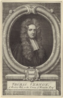 Thomas Vernon, by George Vertue, after  Sir Godfrey Kneller, Bt - NPG D27519