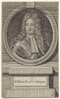 William Cadogan, 1st Earl Cadogan, after Louis Laguerre, published by  John Hinton - NPG D27523
