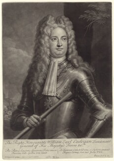 William Cadogan, 1st Earl Cadogan, by John Simon, after  Louis Laguerre - NPG D27525