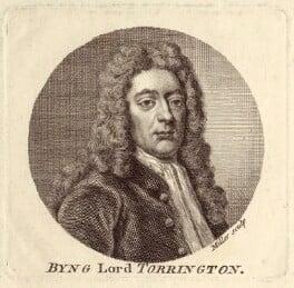George Byng, 1st Viscount Torrington, by Johann Sebastian Müller, after  Sir Godfrey Kneller, Bt - NPG D27530