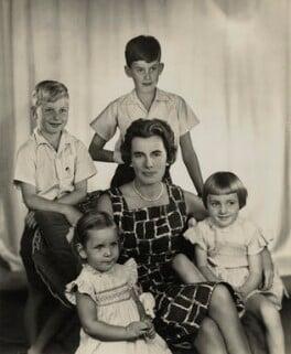 Countess Mountbatten of Burma with her children, by Madame Yevonde, 1959 - NPG x31536 - © Yevonde Portrait Archive