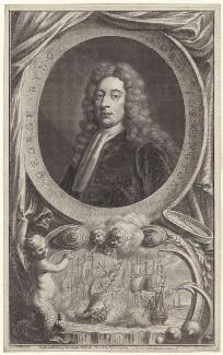 George Byng, 1st Viscount Torrington, by Jacobus Houbraken, published by  John & Paul Knapton, after  Sir Godfrey Kneller, Bt - NPG D27531